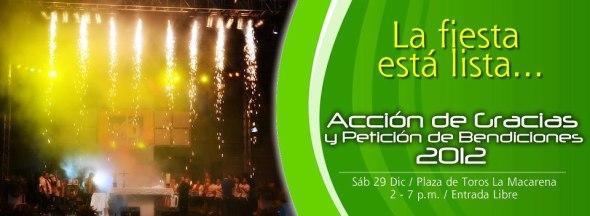 Acción de gracias 2012