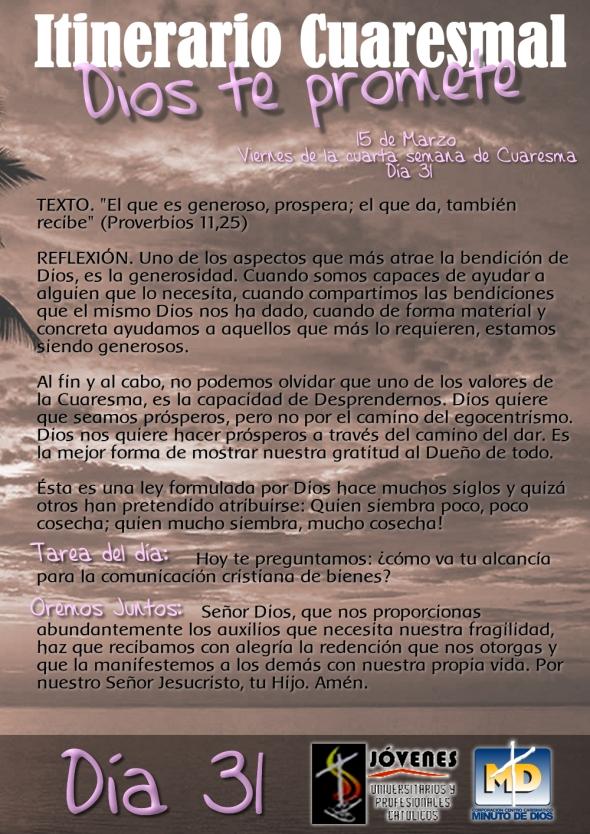 Dios te promete - Día 31