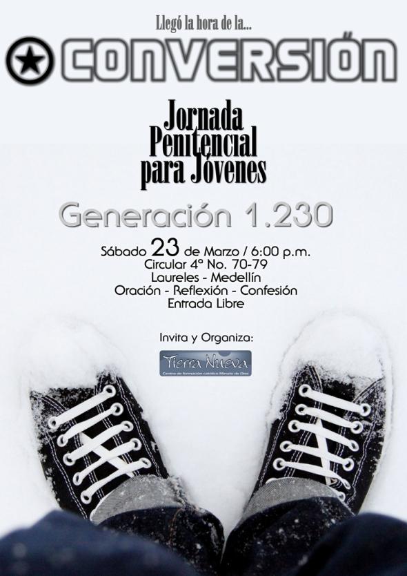 Jornada Penitencial para Jóvenes Marzo 13