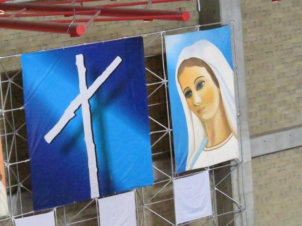María y la cruz